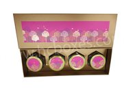 Jar Golden Tree Box With Hexagon Bottle 03 pc and 04 pc