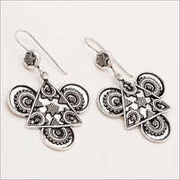 Sterling Silver Indian Ethnic Banjara Earrings