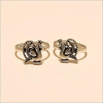 Handmade Peacock Design Toe Ring