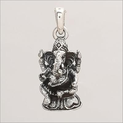 Sterling Silver Lord Ganesha Pendant