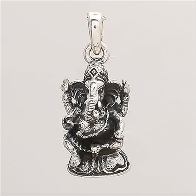 Party Sterling Silver Lord Ganesha Pendant