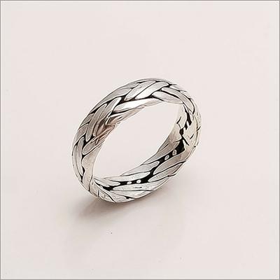 Sterling Silver Plain Thumb Band Ring