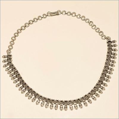 Sterling Silver Plain Retro Designer Choker Style Necklace
