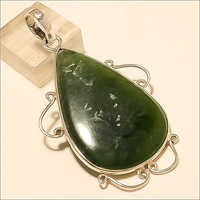 Natural Mexican Green Moss Agate Pendant