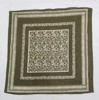 100% Cotton Printed Green Bandana