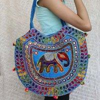 Elephant Embroidery Jaipuri Bag