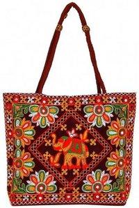 Rajasthani Women Maroon Shoulder Bag