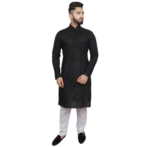 Men Kurta And Pajama Set Cotton Blend