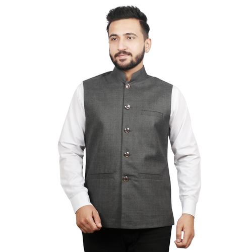 Solid Men Ethnic Jacket