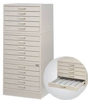 Slide Storage Cabinet Horizontal