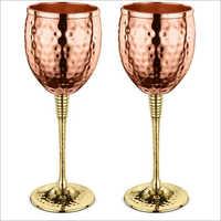 Hammered Copper Goblet Bar Glass