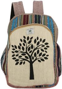 Himalayan Natural Handmade Multi Pocket Hemp Backpack