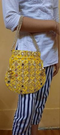 Indian Women Designer Clutch Potli Bag