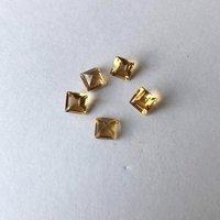 7mm Citrine Faceted Square Loose Gemstones