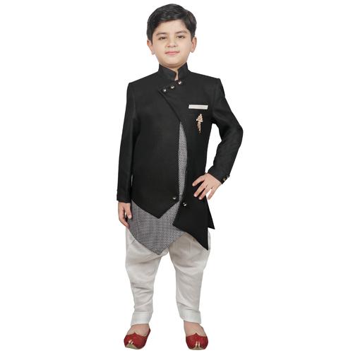Kids Festive & Party Indo Western Sherwani Set
