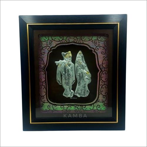 Silver Radha Krishna Photo Frame