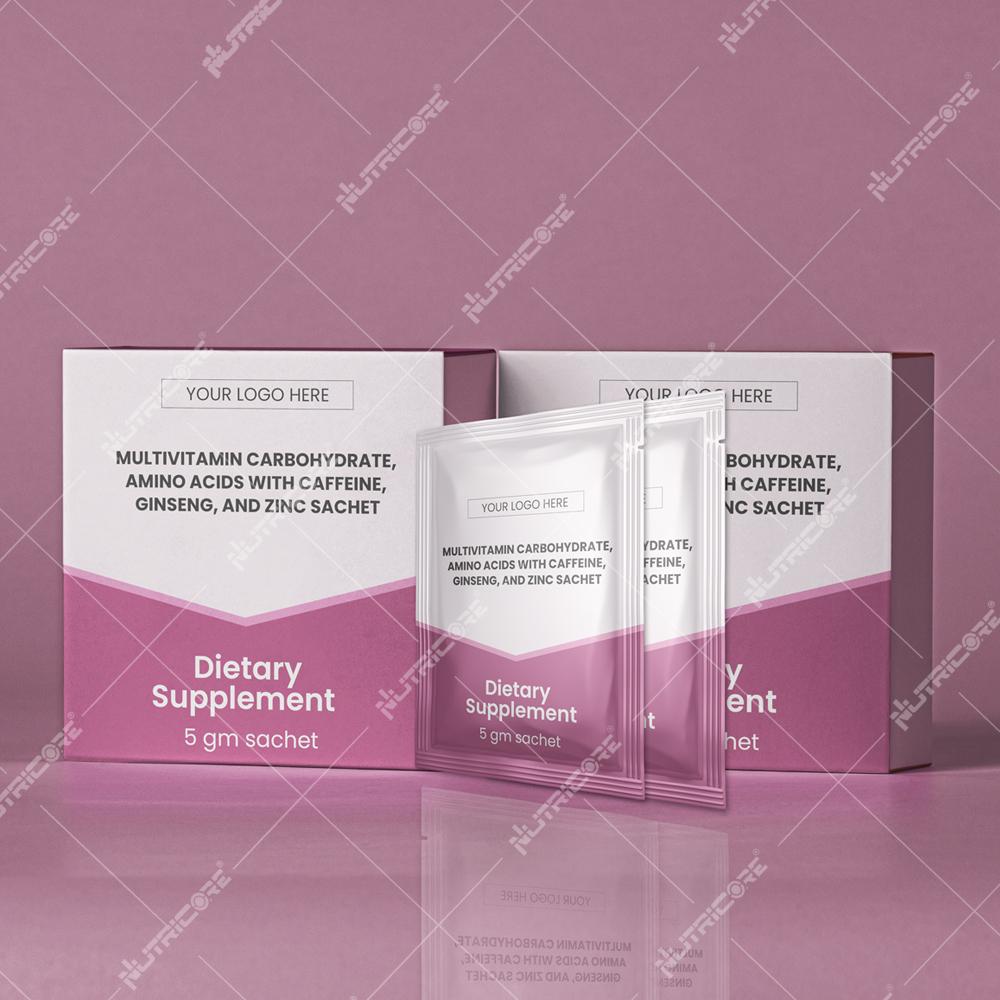 Multivitamin, Amino Acids with Caffeine, Ginseng, and Zinc Sachet