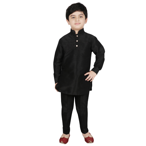Silk Pathani Kurta And Pant Set
