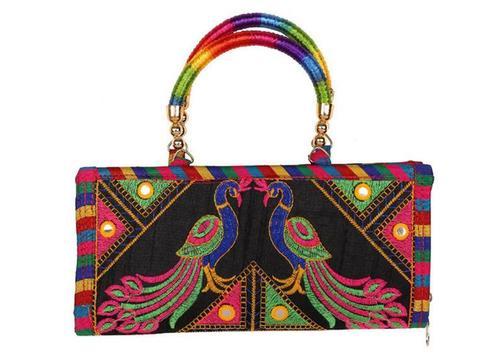 Handbag With Kutch Embroidery