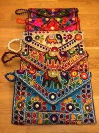 Indian Colorful Sling Handbag With Kutch Embroidery Handbag