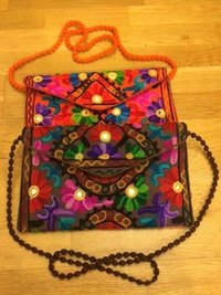 Cotton Handmade Embroidery Design Rajasthani Clutch Bag
