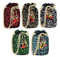 Multicolored Rajasthani Sequins Potli's
