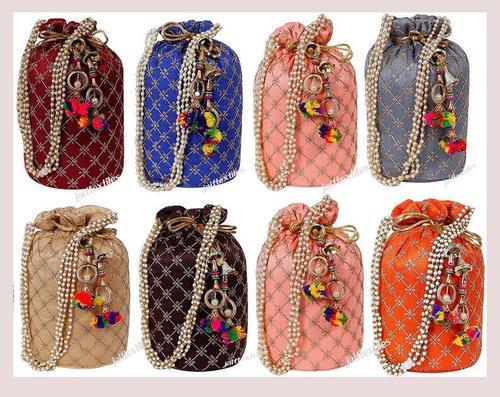 Embroidered Potli Bag For Women