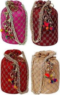 Pearl Design Traditional Potli Bag