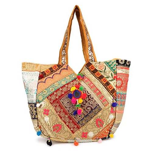 Women's Huge Patch Work And Embroidered A Real Banjara Bag