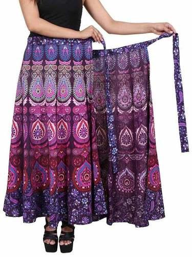 Handmade Cotton Long Wrap Around Skirt
