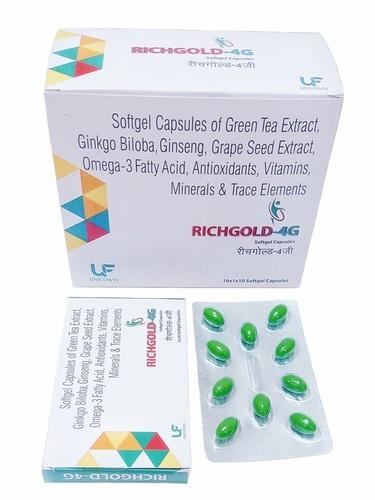 Omega-3 Fatty Acid, Green Tea Extract, Ginkgo Biloba, Ginseng and multivitamin 4g Capsules