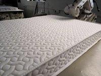 White Knitted Jacquard Mattress Fabric