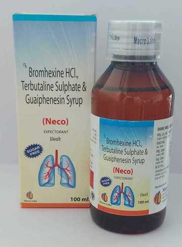 Terbutaline 1.25 mg+ Bromhexine 2 mg+Guaiphenesin 50 mg+Menthol 0.5 mg