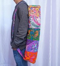 Embroidered Patch Handmade Yoga Mat Cover