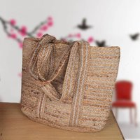 Handmade Jute Beach Bag Basket