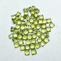 6mm Peridot Faceted Square Loose Gemstones