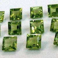 9mm Peridot Faceted Square Loose Gemstones