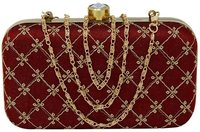 Embroidered Box Clutch Bag For Women