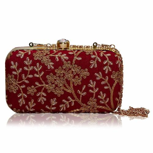 Ethnic Embroidered Box Clutch