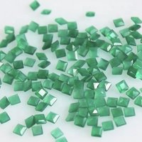 9mm Green Onyx Faceted Square Loose Gemstones