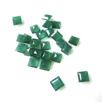 10mm Green Onyx Faceted Square Loose Gemstones