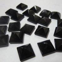 5mm Black Onyx Faceted Square Loose Gemstones
