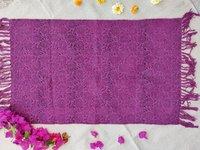 Purple Printed Dhurrie