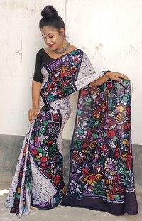 Batik Hand Print Saree