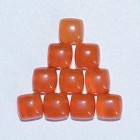 9mm Carnelian Square Cabochon Loose Gemstones