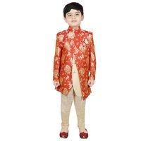 Boys Floral Print Indo Western Suit