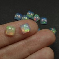 6mm Ethiopian Opal Square Cabochon Loose Gemstones