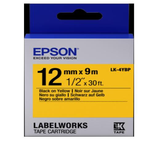 LK-4YBP 12MM B/Y Label Tape