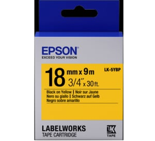 LK-5YBP 18MM B/Y Label Tape