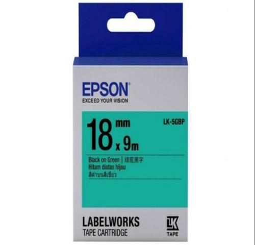 LK-5GBP 18MM B/G Label Tape